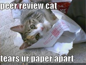 Peer Review Cat Tears Ur Paper Apart
