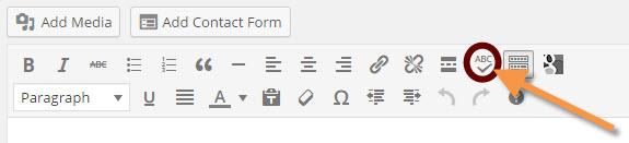 Proofread tool in WordPress